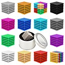 cheap Bakeware-216 pcs 5mm Magnet Toy Magnetic Balls Building Blocks Super Strong Rare-Earth Magnets Neodymium Magnet Neodymium Magnet Magnetic Stress and Anxiety Relief Office Desk Toys Relieves ADD, ADHD