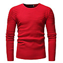 povoljno Muški džemperi i kardigani-Muškarci Izlasci Ulični šik Jednobojni Dugih rukava Slim Regularna Pullover Džemper od džempera, Okrugli izrez Crn / Red / Navy Plava M / L / XL