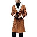 povoljno Men's Winter Coats-Muškarci Dnevno Ulični šik Dug Kaput, Jednobojni Odbačenost Dugih rukava Poliester Braon / Crn / Vojska Green