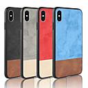 رخيصةأون أغطية أيفون-غطاء من أجل Apple iPhone XS / iPhone XR / iPhone XS Max مثلج غطاء خلفي لون سادة قاسي جلد PU