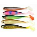 ieftine Momeală Pescuit-5 pcs Creion Δόλωμα Momeală moale Uşor de Folosit Plutire Bass Păstrăv Ştiucă Pescuit mare Pescuit cu Muscă Aruncare Momeală PVC / Pescuit la Copcă / Filare / Pescuit la Oscilantă / pescuit de Crap