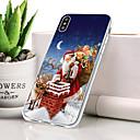 رخيصةأون أغطية أيفون-غطاء من أجل Apple iPhone XR ضد الغبار / نحيف جداً / نموذج غطاء خلفي عيد الميلاد ناعم TPU