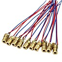 저렴한 모듈-10 x 미니 레이저 도트 다이오드 모듈 헤드 wl 빨간색 650nm 6mm 5v 5mw 10 팩