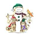 ieftine Îngrijire Unghii-Pentru femei Broșe #D femei Dulce Ștras Broșă Bijuterii Auriu Pentru Crăciun