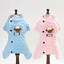povoljno Odjeća za psa i dodaci-Psi Mačke Jumpsuits Zima Odjeća za psa Ugrijati Plava Pink Kostim Pamuk Plaid / Check Toile Životinje slatko S M L XL XXL