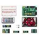 povoljno Raspberry Pi-pribor za pakiranje (tip a) za maline pi, uključujući dvik512, lcd, module i kabele za proširenje (malina nije uključena)