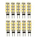 رخيصةأون أزرار أكمام-SENCART 10pcs 3 W أضواء LED Bi Pin 180 lm G4 T 13 الخرز LED مصلحة الارصاد الجوية 5050 ديكور أبيض دافئ أبيض أحمر 12 V
