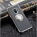voordelige Galaxy S7 Edge Hoesjes / covers-hoesje Voor Samsung Galaxy S9 / S9 Plus / S8 Plus Ringhouder / Ultradun / Transparant Achterkant Effen Zacht TPU