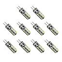 رخيصةأون قلادات-10pcs 1 W أضواء LED ذرة 300 lm G4 T 24 الخرز LED SMD 3014 أبيض دافئ أبيض كول 12 V / 10 قطع