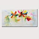 povoljno Zidni ukrasi-Hang oslikana uljanim bojama Ručno oslikana - Sažetak Cvjetni / Botanički Moderna Bez unutrašnje Frame / Valjani platno