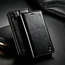 رخيصةأون حافظات / جرابات هواتف جالكسي J-غطاء من أجل Apple iPhone XR محفظة / حامل البطاقات / مع حامل غطاء كامل للجسم لون سادة قاسي جلد PU