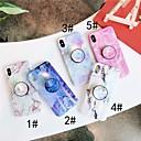 رخيصةأون أغطية أيفون-غطاء من أجل Apple iPhone XS / iPhone XR / iPhone XS Max مع حامل / IMD غطاء خلفي حجر كريم ناعم TPU