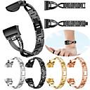 economico Braccialetti intelligenti-Cinturino per orologio  per Fitbit Charge 3 Fitbit Cinturino sportivo Acciaio inossidabile Custodia con cinturino a strappo