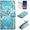 رخيصةأون الدرجات النارية وأجزاء السيارات-غطاء من أجل Samsung Galaxy A6 (2018) / A6+ (2018) / Galaxy A7(2018) محفظة / حامل البطاقات / مع حامل غطاء كامل للجسم فراشة قاسي جلد PU
