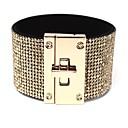 ieftine Lupe-Pentru femei Transparent Wide Bangle Clasic Stilat Simplu PU piele Bijuterii brățară Auriu / Alb / Negru Pentru Cadou Dată / Ștras