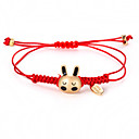povoljno Trake i žice-U obliku pletenice Narukvica prijateljstva - Rabbit Simple Style, Korejski, Moda Zlato Za Dnevno Žene