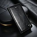 voordelige iPhone-hoesjes-hoesje Voor Apple iPhone SE / 5s / iPhone 5 Portemonnee / Kaarthouder / met standaard Volledig hoesje Effen Hard PU-nahka