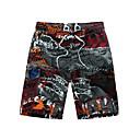 povoljno Muške košulje-Muškarci Plaža i more / Tropical Veći konfekcijski brojevi Plaža Širok kroj / Kratke hlače Hlače Kolaž / Print Ljeto Plava Red XXXXL XXXXXL XXXXXXL