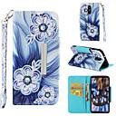 رخيصةأون ساعات النساء-غطاء من أجل LG LG Stylo 4 محفظة / حامل البطاقات / قلب غطاء كامل للجسم زهور قاسي جلد PU