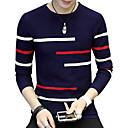 povoljno Muški džemperi i kardigani-Muškarci Dnevno / Vikend Jednobojni Dugih rukava Duga Pullover Džemper od džempera, Okrugli izrez Jesen / Zima Lila-roza / Navy Plava / Sive boje M / L / XL