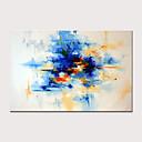 رخيصةأون لوحات-هانغ رسمت النفط الطلاء رسمت باليد - تجريدي الحديث بدون إطار داخلي / توالت قماش