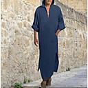 povoljno Muške košulje-Majica Muškarci - Osnovni Dnevno Jednobojni S kapuljačom Plava / Dugih rukava