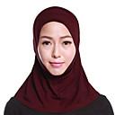 رخيصةأون أطواق ومقاود الكلاب-حجاب لون سادة نسائي - متعدد الطبقات بوليستر, أساسي / سكارف للشعر / كل الفصول