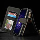 رخيصةأون حالات / أغطية ون بلس-غطاء من أجل Samsung Galaxy S8 Plus محفظة / حامل البطاقات / مع حامل غطاء كامل للجسم لون سادة قاسي جلد PU