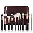 povoljno makeup seta četka-profesionalac Četke za šminku 15pcs Cijeli Pokrivenost Drveni / bambus za Četka za šminku