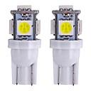 رخيصةأون أضواء السيارة الداخلية-2pcs T10 دراجة نارية / سيارة لمبات الضوء 1 W SMD 5050 80 lm 5 LED ضوء إشارة اللف / أضواء الداخلية من أجل عالمي عالمي