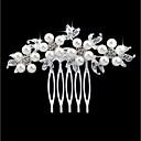 ieftine Bijuterii de Păr-Pentru femei Modă Imitație de Perle Ștras Aliaj Piepteni de Păr Nuntă Petrecere - Floral / Leaf Shape