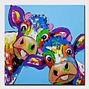 povoljno Zidni ukrasi-Hang oslikana uljanim bojama Ručno oslikana - Sažetak / Pop art Moderna Bez unutrašnje Frame