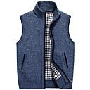 povoljno Muške jakne-Muškarci Dnevno Osnovni Jednobojni Bez rukávů Regularna Prsluk Džemper od džempera, Ruska kragna Jesen Svijetlosiva / Plava / Red M / L / XL