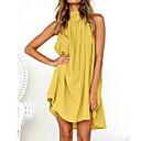 رخيصةأون أقراط-فستان نسائي قميص أساسي قطن قصير جداً رقبة عالية مدورة