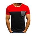 povoljno Narukvice-Majica s rukavima Muškarci Dnevno / Izlasci Color block Okrugli izrez Crn / Kratkih rukava