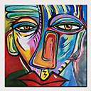 economico Pittura-Hang-Dipinto ad olio Dipinta a mano - Riproduzione / Ritratti Modern Senza telaio interno