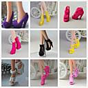 povoljno Halloween smink-Cipele za lutke Princess Lolita Slatka Style 9 pcs Za Barbie Crn Sintetička pređa Poliester PVC Cipele Za Djevojka je Doll igračkama