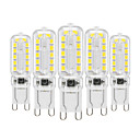 ieftine Spoturi LED-YWXLIGHT® 5pcs 6 W Becuri LED Bi-pin 450-550 lm G9 T 22 LED-uri de margele SMD 2835 Intensitate Luminoasă Reglabilă Decorativ Alb Cald Alb Rece Alb Natural 220-240 V 110-130 V / 5 bc / RoHs
