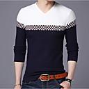 povoljno Muške jakne-Muškarci Dnevno Color block Dugih rukava Veći konfekcijski brojevi Regularna Pullover Džemper od džempera, Okrugli izrez Lila-roza / Deva / Navy Plava M / L / XL