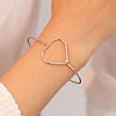 voordelige Heren Armband-Dames Bangles Klassiek Hart Eenvoudig Koreaans Modieus Legering Armband sieraden Zwart / Zilver / Goud Rose Voor Dagelijks Uitgaan