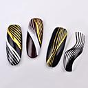 ieftine Ustensile & Gadget-uri de Copt-1 pcs Interfață 3D / Ecologic Metalic Decals Pentru Unghie Creative nail art pedichiura si manichiura Zilnic / Mascaradă / Festival Stilat / Franceză