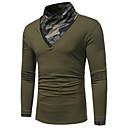 povoljno Muške košulje-Majica s rukavima Muškarci - Ulični šik Dnevno kamuflaža Dolčevita Obala / Dugih rukava