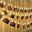 povoljno LED noćna rasvjeta-BRELONG® 3M Žice sa svjetlima 20 LED diode SMD 0603 Toplo bijelo Vodootporno / Kreativan / Party AA baterije su pogonjene 1pc