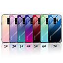 お買い得  Galaxy S シリーズ ケース/カバー-ケース 用途 Samsung Galaxy S9 / S9 Plus / S8 Plus ミラー / パターン バックカバー カラーグラデーション ハード 強化ガラス