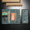 رخيصةأون الستائر-غطاء من أجل Huawei Huawei P20 Pro محفظة / حامل البطاقات / مع حامل غطاء كامل للجسم لون سادة قاسي جلد PU