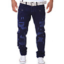 povoljno Muški džemperi i kardigani-Muškarci Ulični šik Dnevno Chinos Hlače - Jednobojni Navy Plava Svijetlosiva Navy Plava 28 34 36