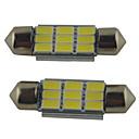 ieftine Lumini de Interior Mașină-2pcs 39mm / 36mm / 41mm Mașină Becuri 2W SMD 5630 215lm 9 Bec Citit