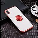 رخيصةأون أغطية أيفون-غطاء من أجل Apple iPhone XS / iPhone XR / iPhone XS Max حامل الخاتم / نحيف جداً / شفاف غطاء خلفي لون سادة ناعم TPU