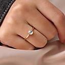 ieftine Inele-Pentru femei Inel Tail Ring Piatră prețioasă 1 buc Auriu Reșină Aliaj Circular Personalizat Simplu Corean Cadou Zilnic Bijuterii Clasic Draguț Încântător