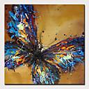 economico Pittura-Hang-Dipinto ad olio Dipinta a mano - Astratto Pop Art Modern Senza telaio interno